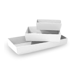 Small (255x155x80) White CateringTray (Base)