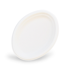 7.5x10 inch (191x254) Sugarcane Bagasse Oval Plate