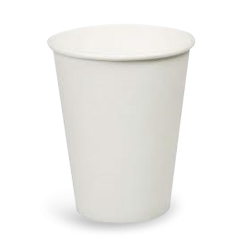 6.5oz (45DBasex72DTopx95h) Plain White Vending Coffee Cup