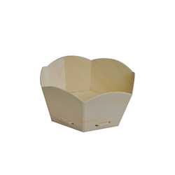 Small (80Dx45) Hexagon Wooden Baking Mould