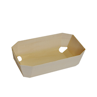 Medium Lng (140x70x45) Rect Wooden Baking Mould