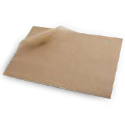 1/6 (110x400m) Brown Unbleached Greaseproof Paper Sheets