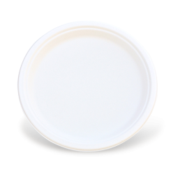 9 inch (225D) Sugarcane Bagasse Round Plate