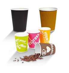 Corrugated Wall Coffee Cups