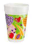 Fruitz White Foam Cups
