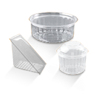 Hinged Lid Plastic Containers, Show Bowls
